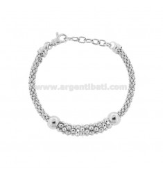 KOREAN BRACELET IN SILVER RHODIUM TIT 925 ‰ CM FROM 17 EXTENDABLE TO 19