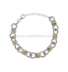 POP CORN BRACELET WITH WASHERS IN RHODIUM-PLATED SILVER TIT 925 ‰ CM FROM 17 EXTENDABLE TO 19