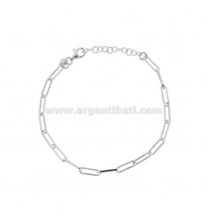 TIT 925 ‰ CM SILVER RHODIUM SILVER CHAIN BRACELET FROM 17 TO 19