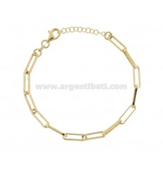 TIT 925 ‰ GOLD SILVER CHAIN BRACELET FROM 17 TO 17 EXTENDABLE