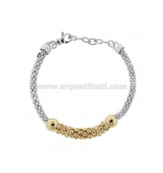 KOREAN BRACELET IN SILVER RHODIUM-PLATED AND TIT 925 ‰ CM FROM 17 EXTENDABLE TO 19