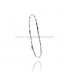 MEN'S BRACELET EMPTY MESH AND SILVER BICOLOR TIT 925 CM 20