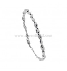 MEN'S BRACELET EMPTY MARINE SWEATER IN SILVER RHODIUM TIT 925 CM 20