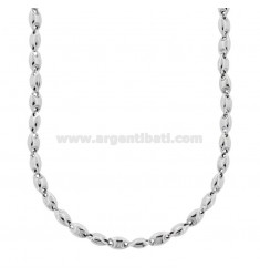 MEN'S NECKLACE MARINA EMPTY SILVER RHODIUM TIT 925 CM 50