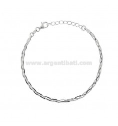 BRAIDED MOUSE TAIL BRACELET IN SILVER RHODIUM TIT 925 ‰ CM 17-19