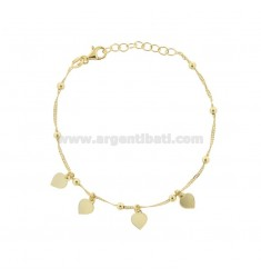 SINGAPORE BRACELET WITH HEARTS IN GOLDEN SILVER TIT 925 ‰ CM 17-19