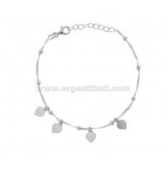 SINGAPORE BRACELET WITH HEARTS IN SILVER RHODIUM TIT 925 ‰ CM 17-19