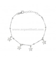 SINGAPORE BRACELET WITH STARS IN SILVER RHODIUM TIT 925 ‰ CM 17-19