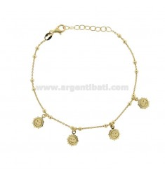 CABLE BRACELET WITH GOLDEN SILVER ONLY TIT 925 ‰ CM 17-19