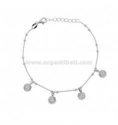 CABLE BRACELET WITH ONLY IN SILVER RHODIUM TIT 925 ‰ CM 17-19