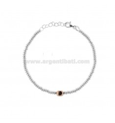 BRACELET WITH WASHERS AND NUT IN WHITE AND ROSE SILVER TIT 925 ‰ CM 17-19