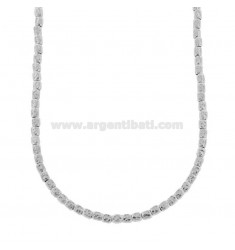 NECKLACE WITH NUTS IN SILVER RHODIUM TIT 925 ‰ CM 40-44