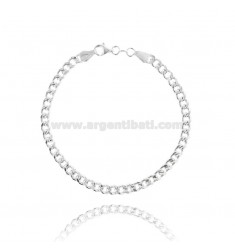 EMPTY KNIT BRACELET GROUMETTE 4 MM SILVER TIT 925 ‰ 19 CM