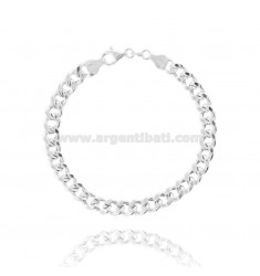 EMPTY KNIT BRACELET GROUMETTE 7 MM SILVER TIT 925 ‰ 21 CM
