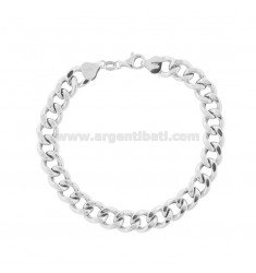 EMPTY KNIT BRACELET GROUMETTE 9 MM SILVER TIT 925 ‰ 21 CM