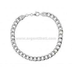 EMPTY KNIT BRACELET GROUMETTE 7 MM SILVER RHODIUM TIT 925 ‰ 21 CM