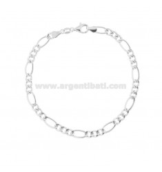 EMPTY MESH BRACELET 3 1 MM 3,4 IN SILVER TIT 925 ‰ 19 CM