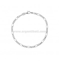 EMPTY MESH BRACELET 3 1 MM 3,4 IN SILVER RHODIUM TIT 925 ‰ 19 CM