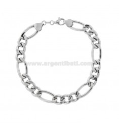 EMPTY 3 1 MM 8.3 BRACELET IN SILVER RHODIUM TIT 925 ‰ 21 CM
