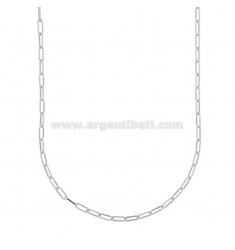 NECKLACE CABLE EXTENDED 2,4X6,4 MM SILVER RHODIUM TIT 925 CM 45