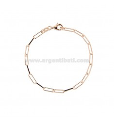BRACELET STRETCH EXTENDED MM 3X10 IN ROSE SILVER TIT 925 CM 18