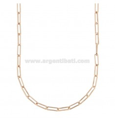 NECKLACE CABLE EXTENDED MM 3X10 IN ROSE SILVER TIT 925 CM 45