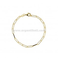 STRETCHED BRACELET 3X10 MM GOLDEN SILVER TIT 925 CM 18