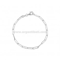 STRETCH BRACELET ELONGATED MM 3X10 SILVER RHODIUM TIT 925 CM 18