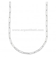 NECKLACE CABLE EXTENDED MM 3X10 IN SILVER RHODIUM TIT 925 CM 45