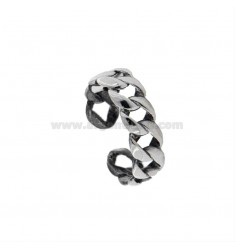 GROUMETTE RING 6 MM IN BRUNITO SILVER TIT 925 ADJUSTABLE SIZE