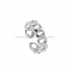 GROUMETTE RING 6 MM SILVER RHODIUM TIT 925 ADJUSTABLE SIZE