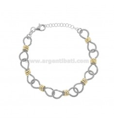 POP CORN BRACELET WITH WASHERS IN RHODIUM-PLATED SILVER AND TIT 925 ‰ CM FROM 17 EXTENDABLE TO 19