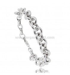 ROUND MESH BRACELET 11 MM BARREL 2.6 MM SILVER RHODIUM TIT 925 CM 19-21