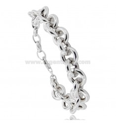 BRACELET MESH ROUND 13 MM BARREL 3.0 MM IN SILVER RHODIUM TIT 925 CM 19-21