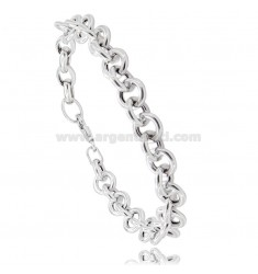 BRACELET MESH ROUND 9 MM BARREL 2 MM SILVER RHODIUM TIT 925 CM 19-21