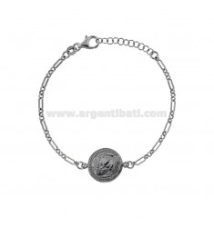 CHAIN BRACELET WITH COIN 16 MM SILVER BRUNITO TIT 925 CM 17-20