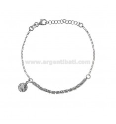 ROLO BRACELET 'WITH NUTS AND COINS PENDING IN BRUNITO SILVER TIT 925 CM 17-20