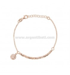 ROLO BRACELET 'WITH NUTS AND PINK SILVER PENDING COINS TIT 925 CM 17-20