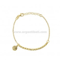 ROLO BRACELET 'WITH NUTS AND GOLDEN SILVER PENDING COINS TIT 925 CM 17-20