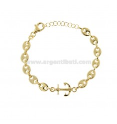 MARINE SWEATER BRACELET AND STILL IN GOLDEN SILVER TIT 925 CM 17-20