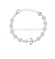 MARINE SWEATER BRACELET AND STILL IN RHODIUM SILVER TIT 925 CM 17-20
