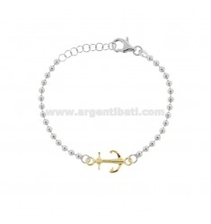 BALL BRACELET WITH STILL IN RHODIUM-PLATED AND GOLDEN TIT 925 CM 17-20