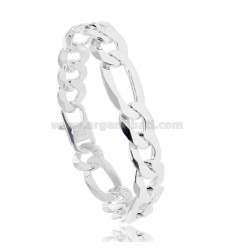 MESH BRACELET 3 1 MM 12X3 IN SILVER 925 ‰ CM 22 WITH FRENCH CLASP