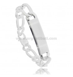 925 ‰ SILVER BRACELET 3 1 WITH 40X12 MM PLATE 22 CM WITH FRENCH CLASP