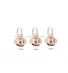 KIT 3 PIECES SONAGLINO PENDANTS 10 MM IN ROSE SILVER TIT 925 ‰