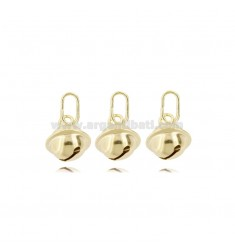 KIT 3 PIECES SONAGLINO PENDANTS 10 MM GOLDEN SILVER TIT 925 ‰