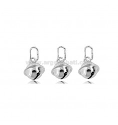 KIT 3 PIECES PENDANTS SONAGLINO 10 MM SILVER RHODIUM TIT 925 ‰