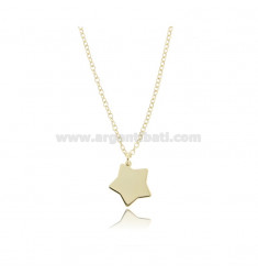 NECKLACE ROLO WITH STAR PENDANT IN GOLDEN SILVER TIT 925 ‰ CM 45