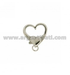 CLOSING IN THE HEART 18X18 MM AG RHODIUM TIT 925