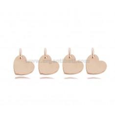 HEART PENDANT MM 8X9 PCS 4 IN ROSE SILVER TIT 925
